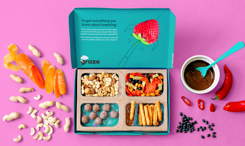 Graze, subscription snack box, Unilever snackbox, Graze คือ